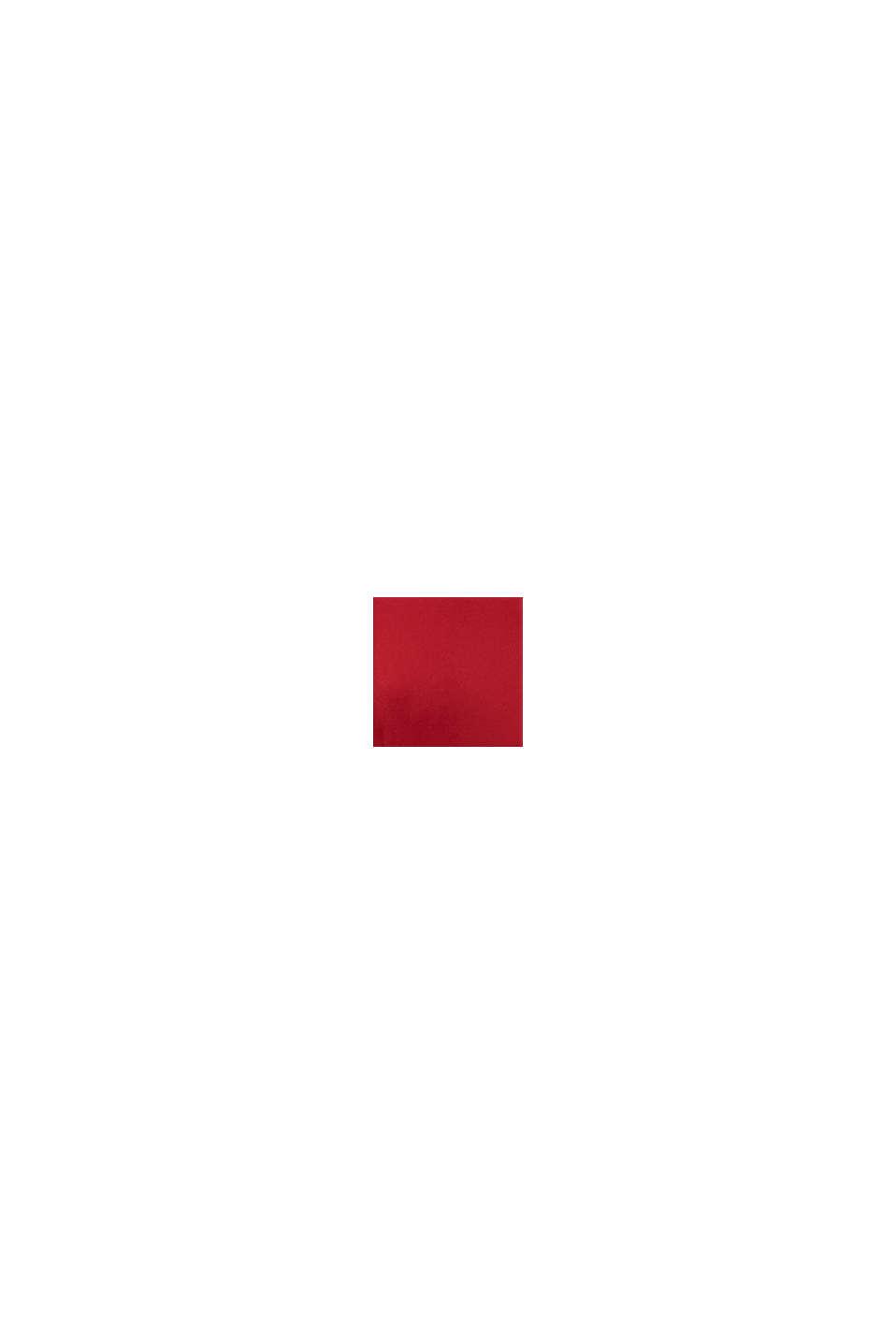 Recycelt: Midi-Hemdblusenkleid mit Plissee, DARK RED, swatch