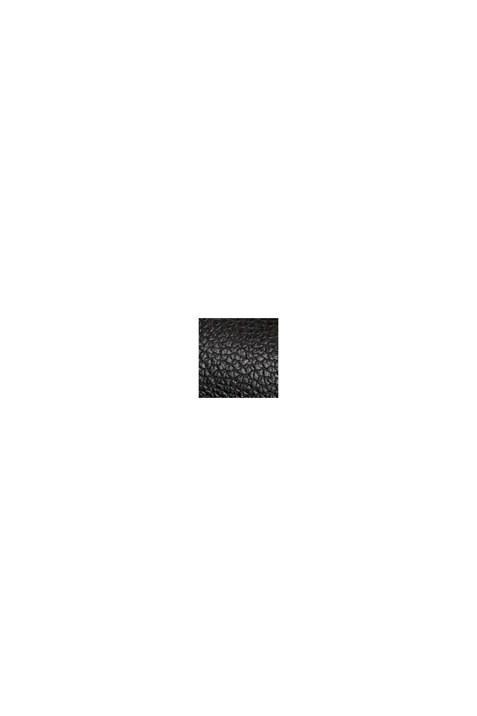 Faux leather shirt dress, BLACK, swatch