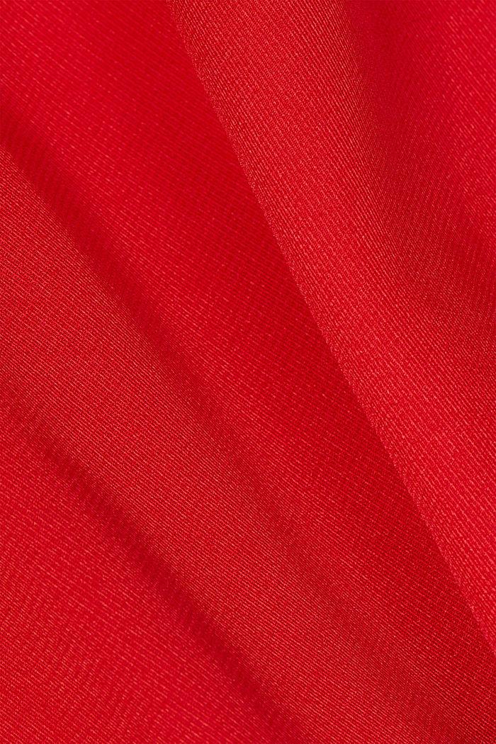 Blouse met stolpplooi, RED, detail image number 4