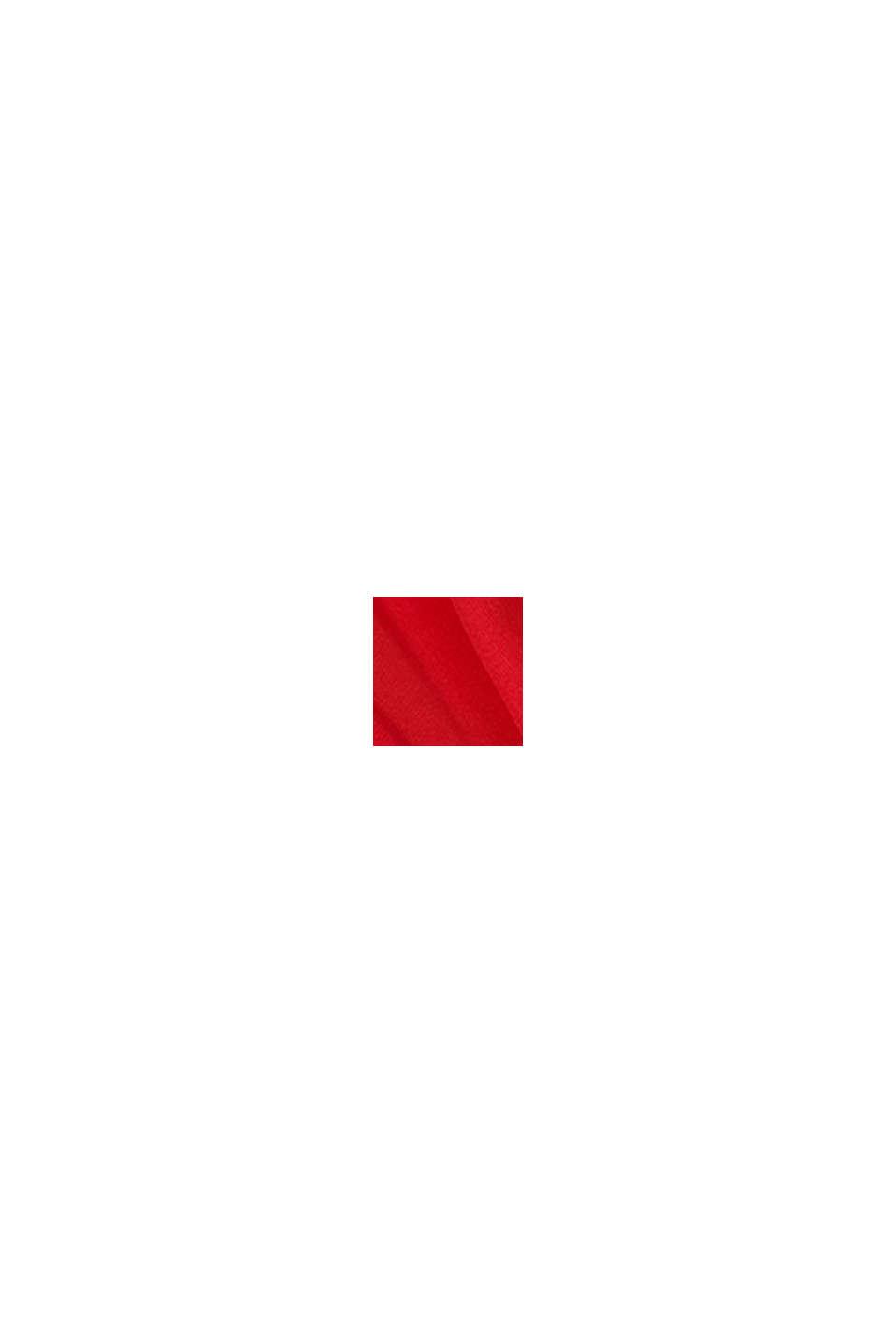 Blusa con pliegue invertido, RED, swatch