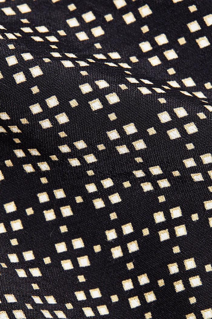 Minimal print blouse, BLACK, detail image number 4