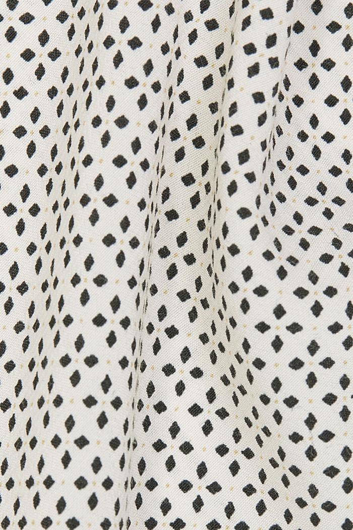 Minimal print blouse, OFF WHITE, detail image number 4