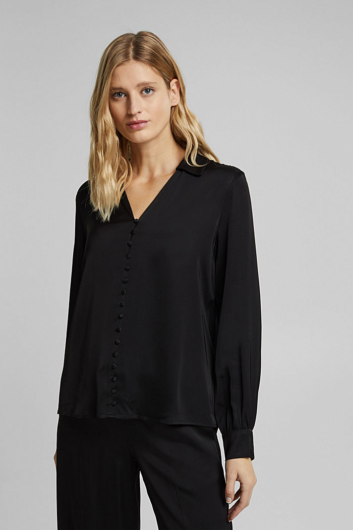 Satin-effect blouse