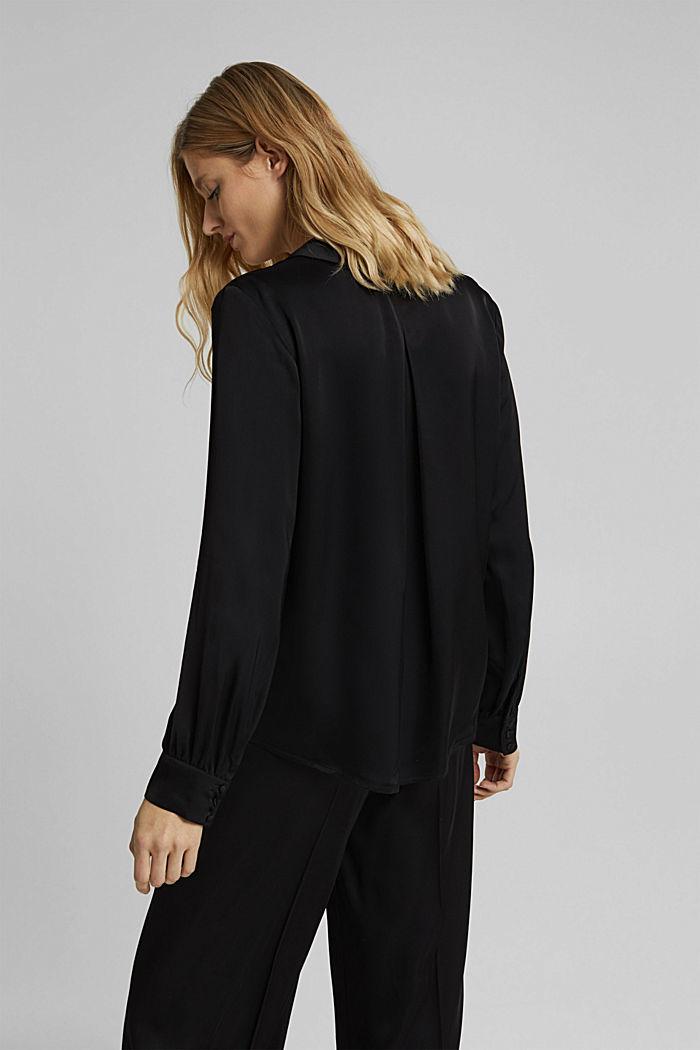 Satin-effect blouse, BLACK, detail image number 3