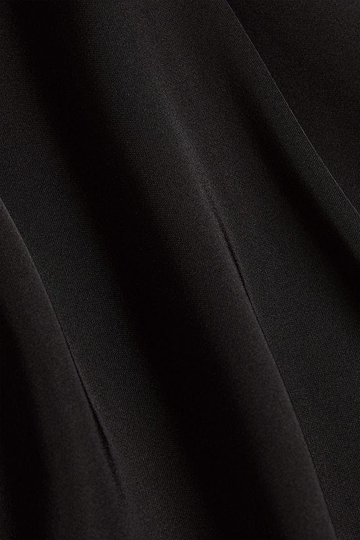 Satin-effect blouse, BLACK, detail image number 4