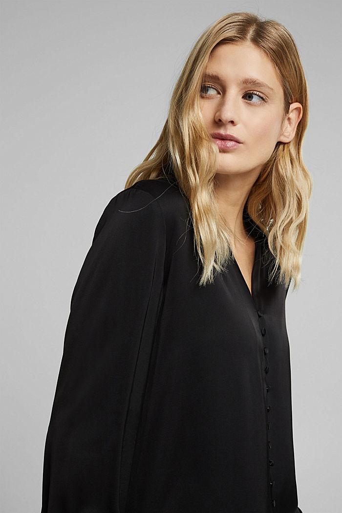 Satin-effect blouse, BLACK, detail image number 5