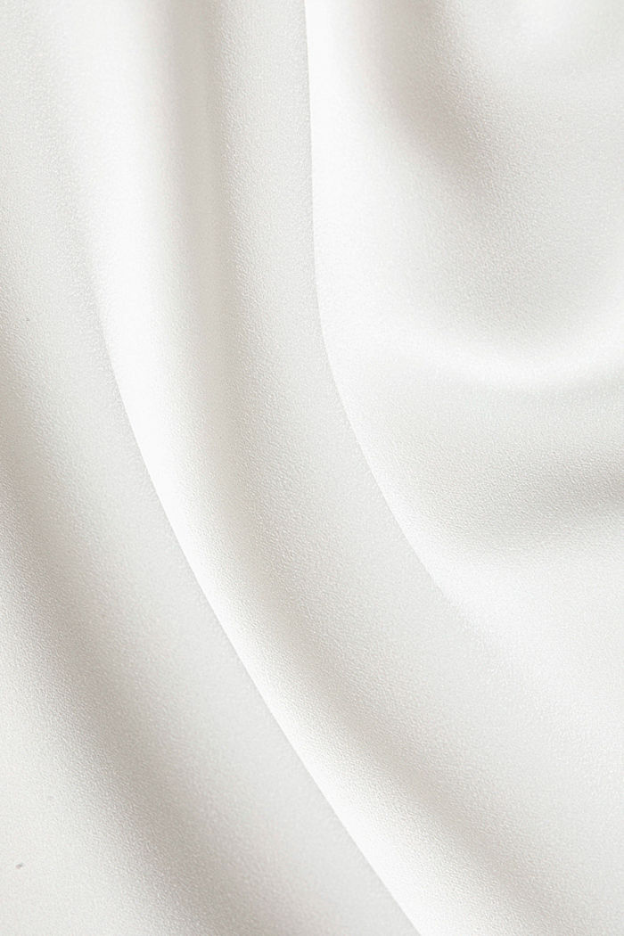 Recycled: Crêpe blouse with a stand-up collar, OFF WHITE, detail image number 4