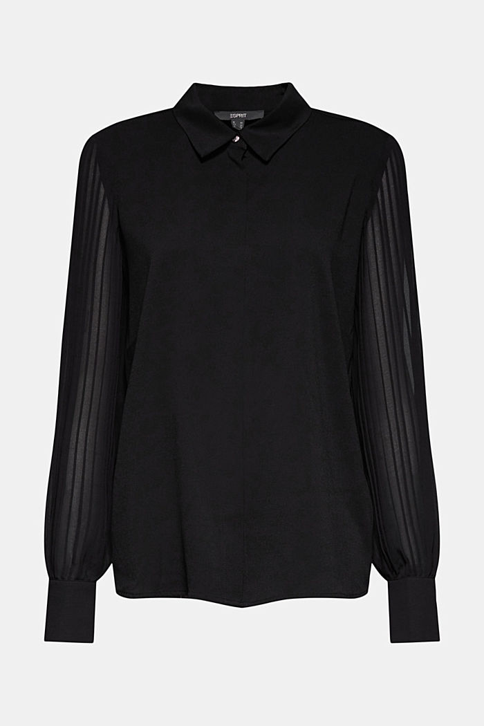 Recycled: pleat detail blouse