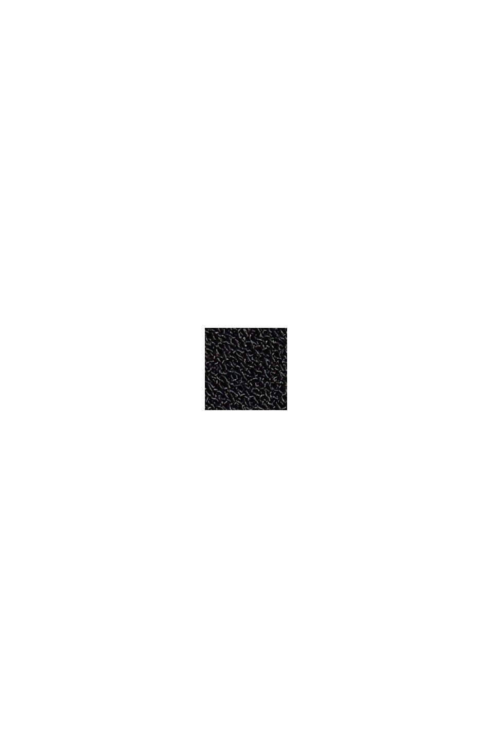 Reciclada: blusa camisera con plisado, BLACK, swatch