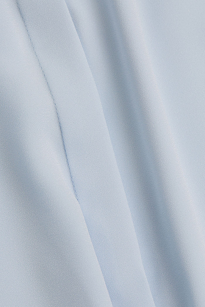 Recycled: pleat detail blouse, PASTEL BLUE, detail image number 4