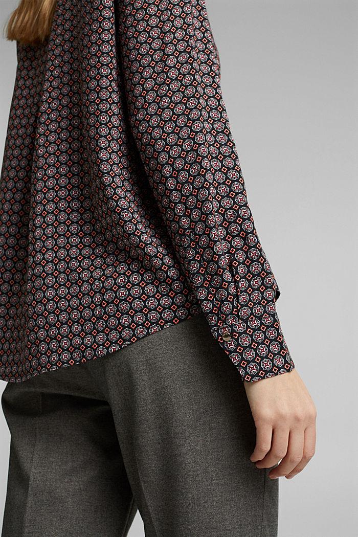 Tunika-Bluse mit Print, BLACK, detail image number 2