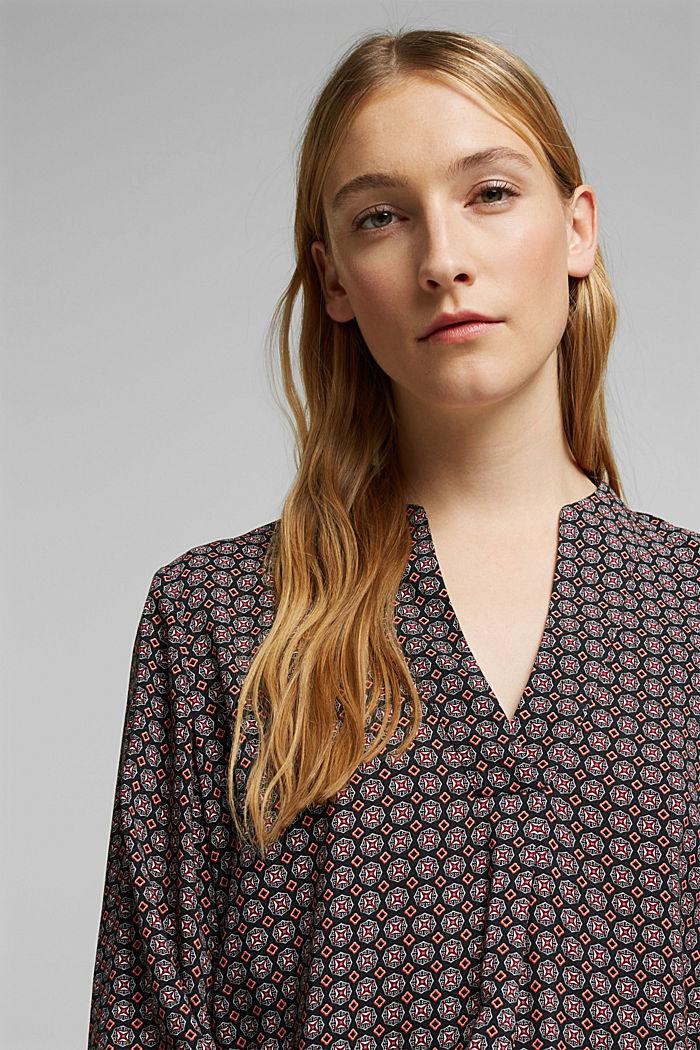 Tunika-Bluse mit Print