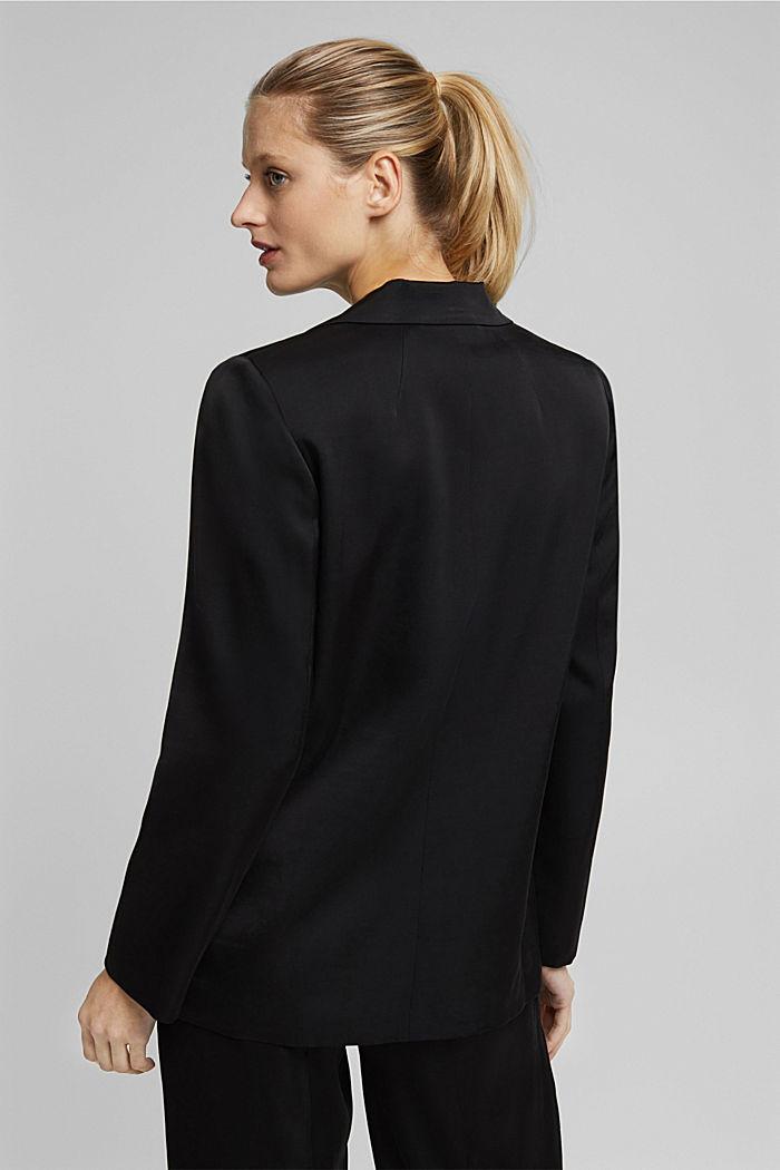 SATIN mix + match blazer, BLACK, detail image number 3