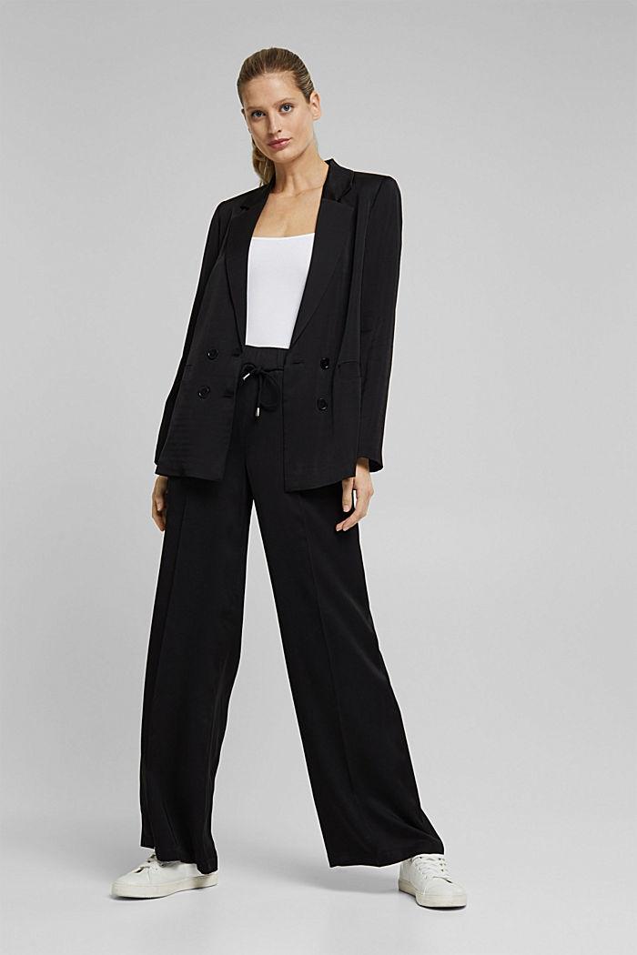 SATIN mix + match blazer, BLACK, detail image number 1