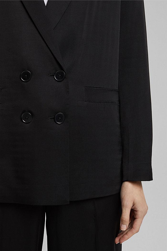 SATIN mix + match blazer, BLACK, detail image number 2