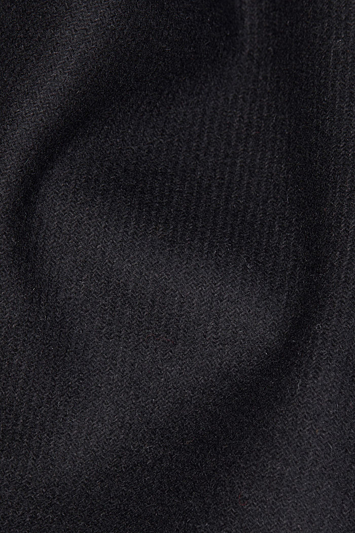 Wool blend: Long blazer coat, BLACK, detail image number 4