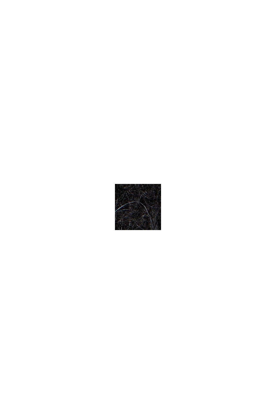 Mit Wolle und Alpaka: Offener Cardigan, BLACK, swatch