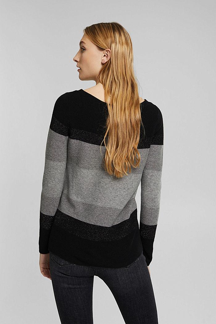 Cashmere blend: striped jumper, BLACK, detail image number 3