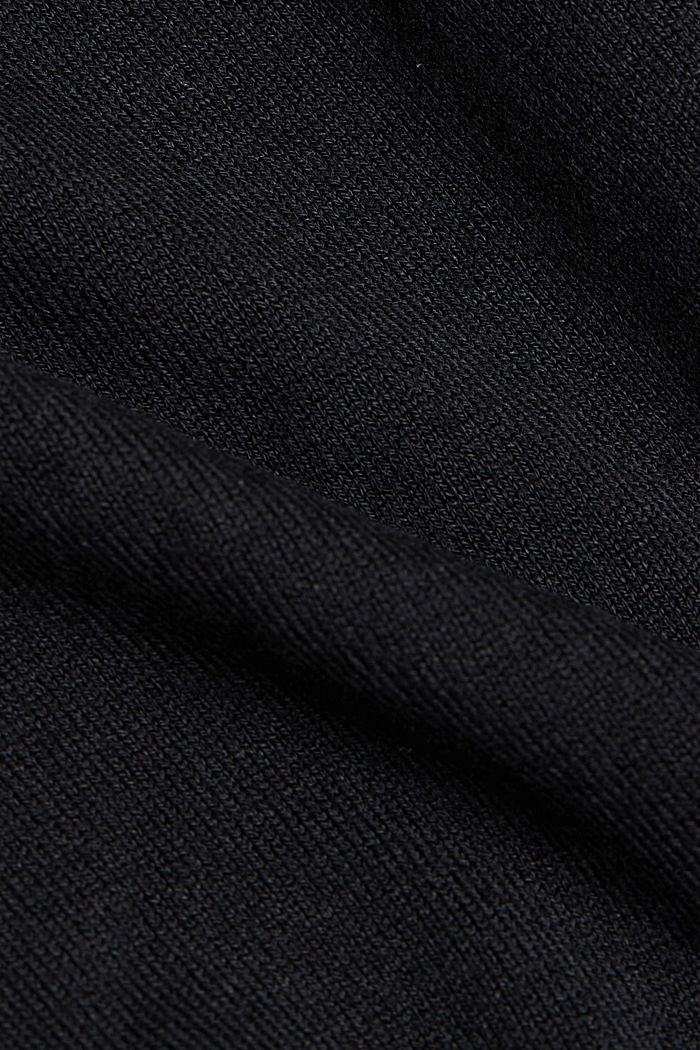 Jumper made of LENZING™ ECOVERO™, BLACK, detail image number 4