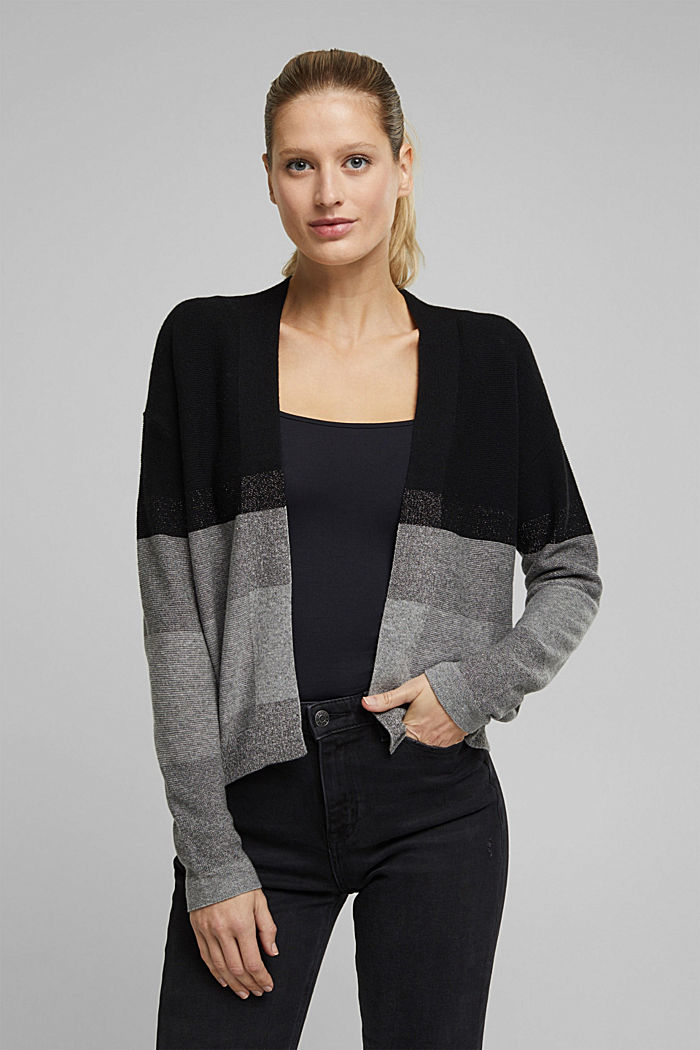 Met kasjmier: colour block vest met glitter