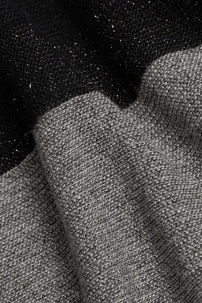 S kašmírem: kardigan s barevnými díly a třpytem, BLACK, detail image number 4