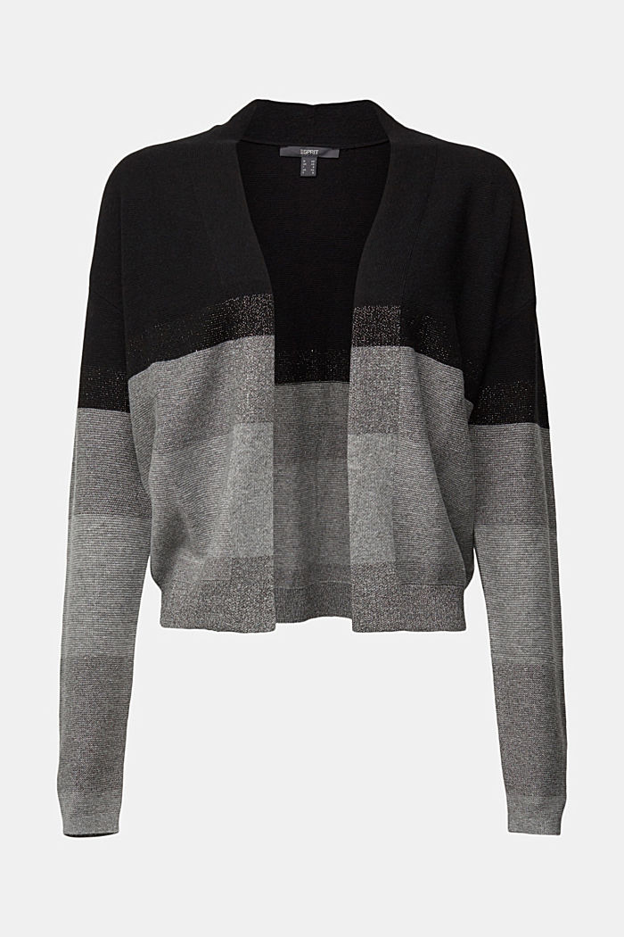 Cashmere blend: glittering colour block cardigan