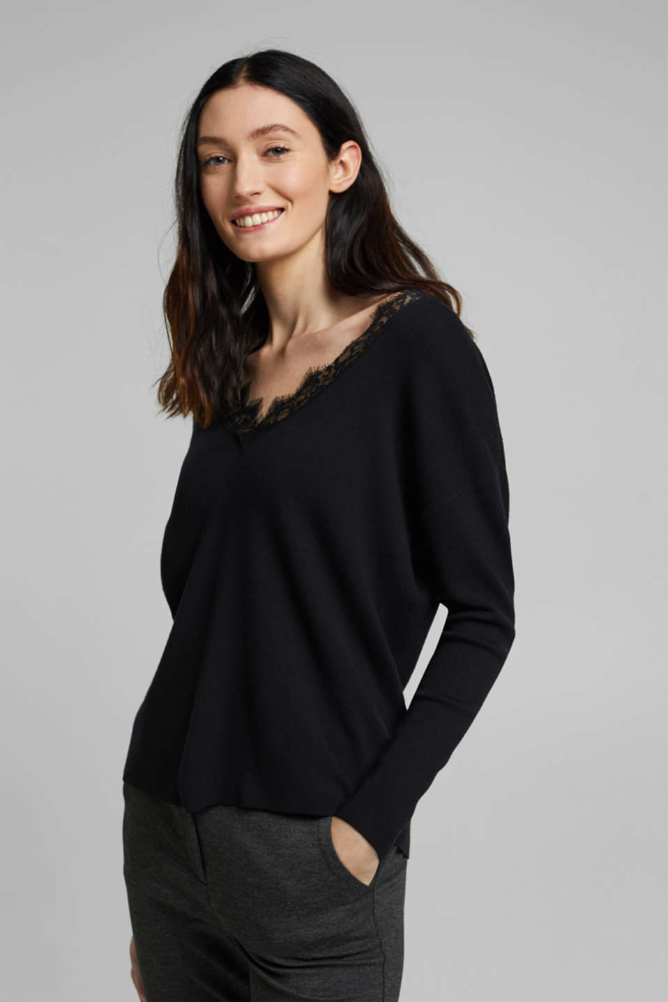 Esprit - Jumper containing LENZING™ ECOVERO™