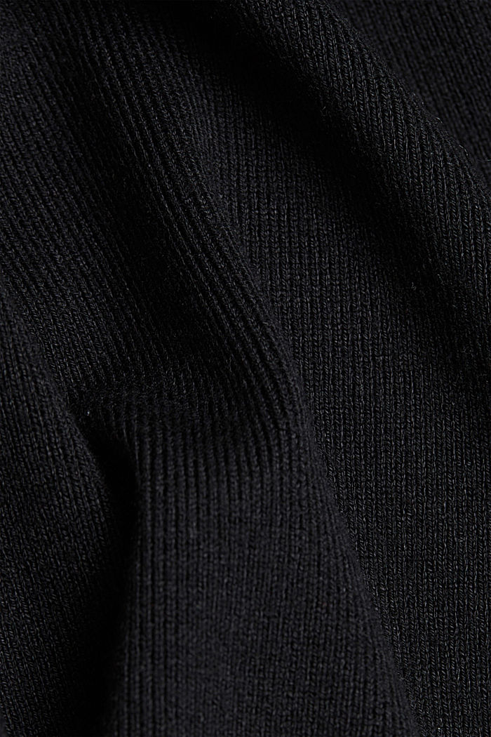 Jumper containing LENZING™ ECOVERO™, BLACK, detail image number 4