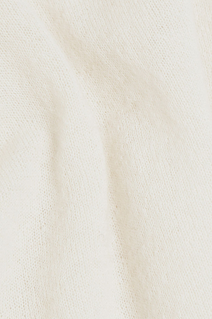 Wool and alpaca blend: jumper with bateau neckline, OFF WHITE, detail image number 4