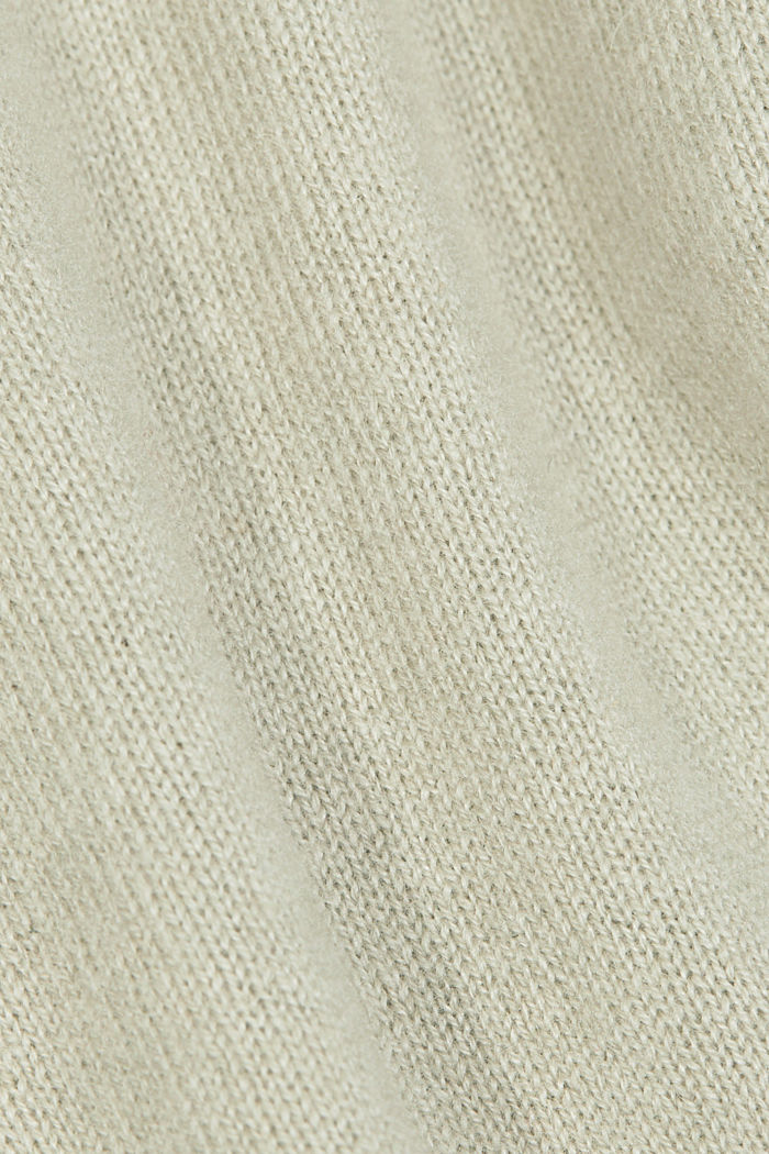 100% cashmere: jumper with balloon sleeves, PASTEL GREEN, detail image number 4