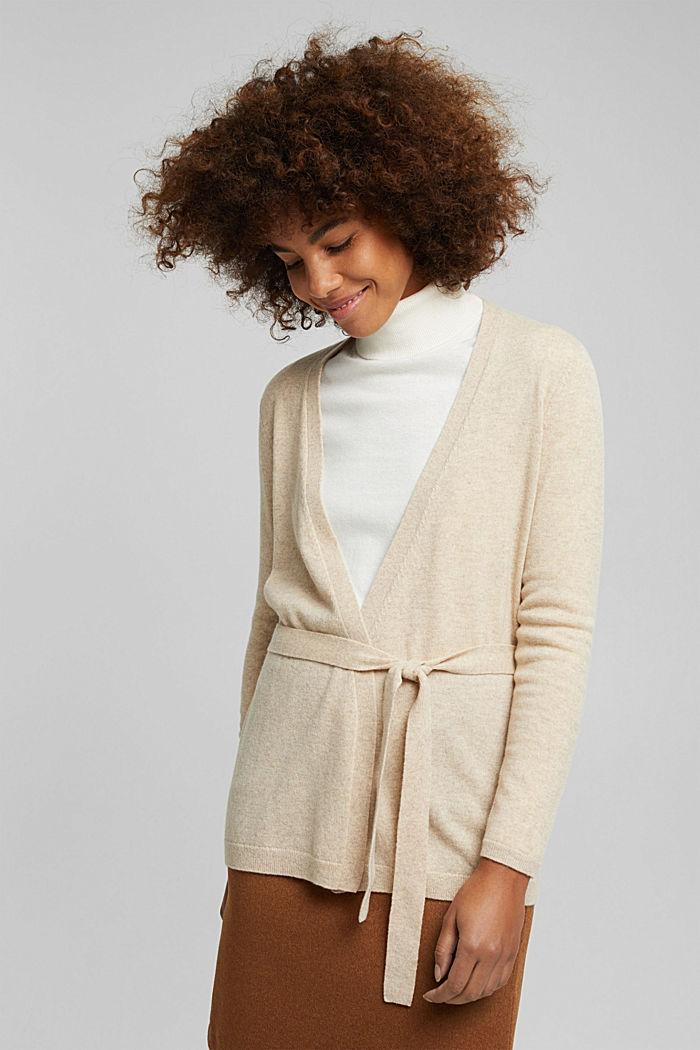 100% cashmere: Wrap cardigan