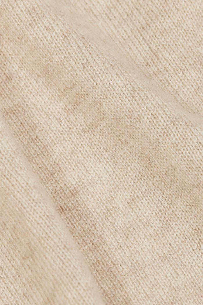100% Kaschmir: Wickel-Cardigan, BEIGE, detail image number 4