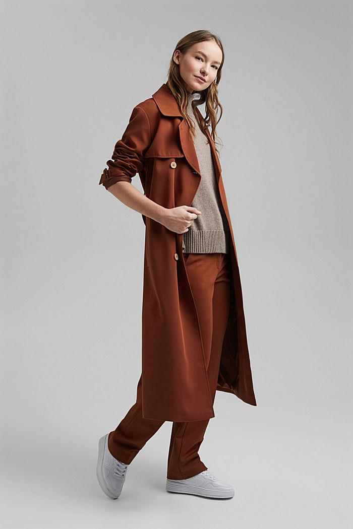 Con lana y cachemir: chaleco con cuello subido, BEIGE, detail image number 1