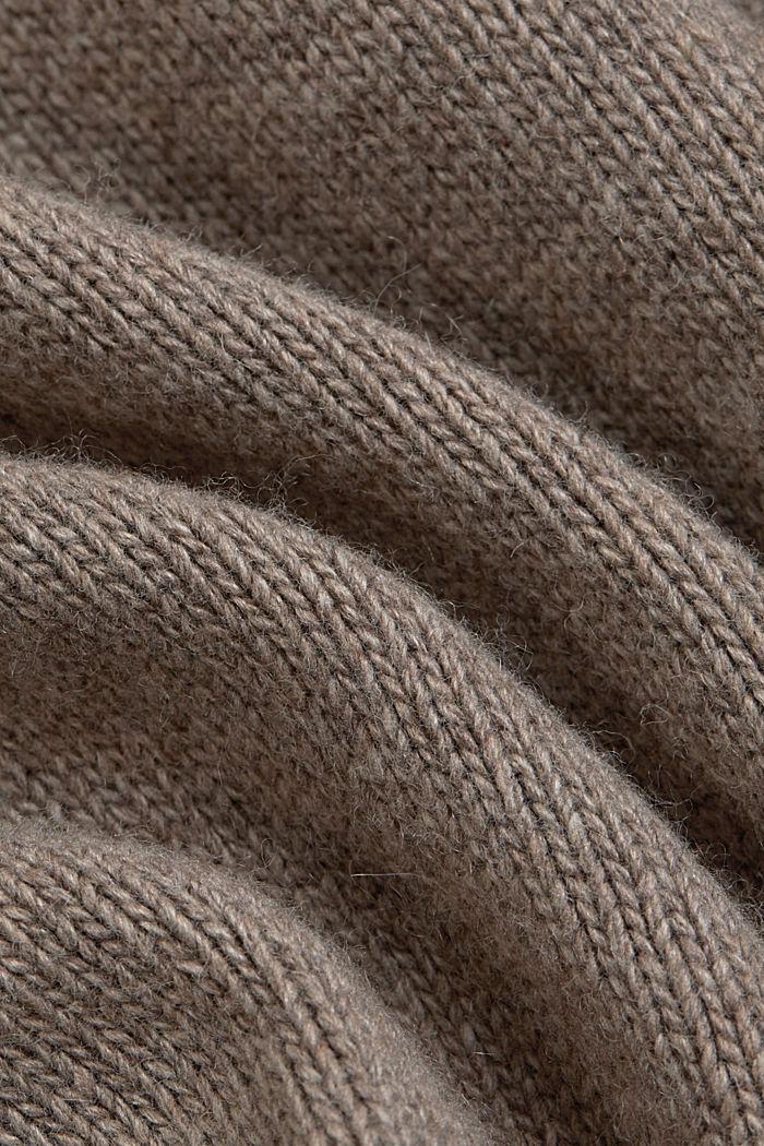 Con lana y cachemir: chaleco con cuello subido, BEIGE, detail image number 4