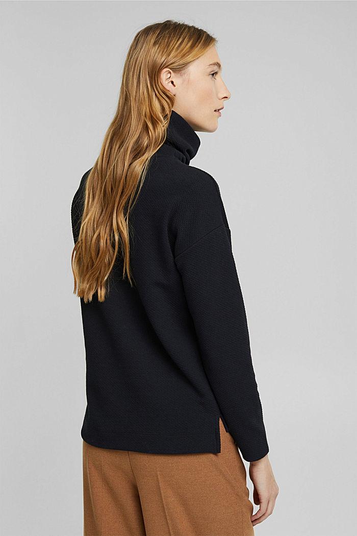 Sweat-shirt texturé, BLACK, detail image number 3