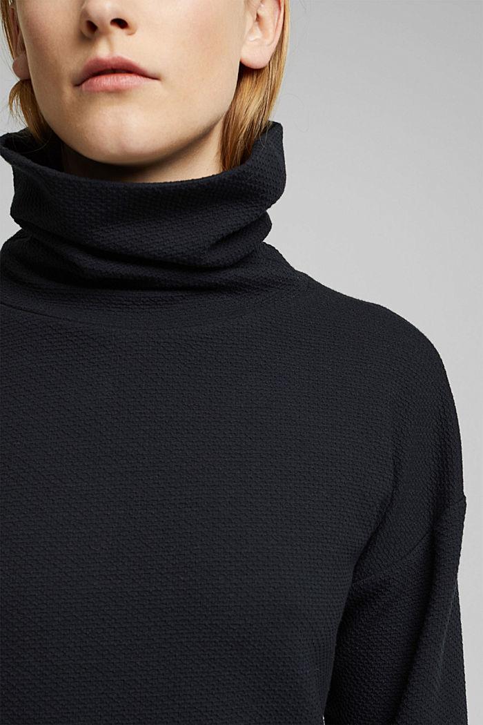 Sweat-shirt texturé, BLACK, detail image number 2