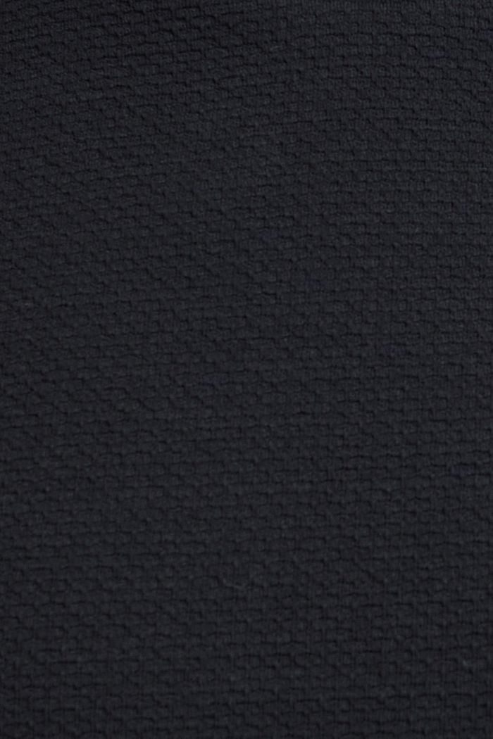 Sweat-shirt texturé, BLACK, detail image number 4