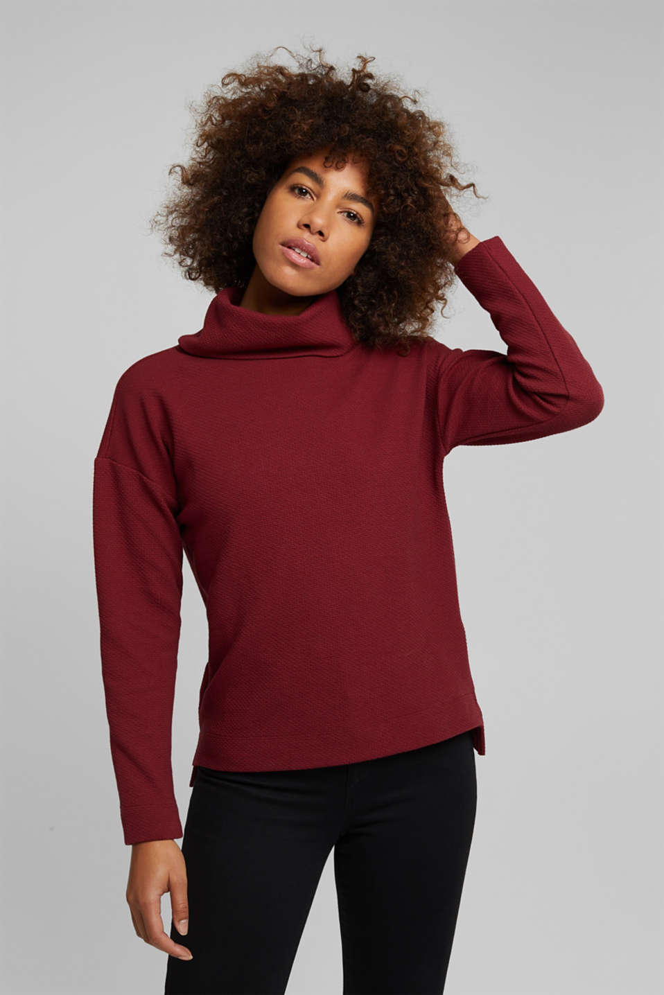 Esprit - Sweat-shirt texturé