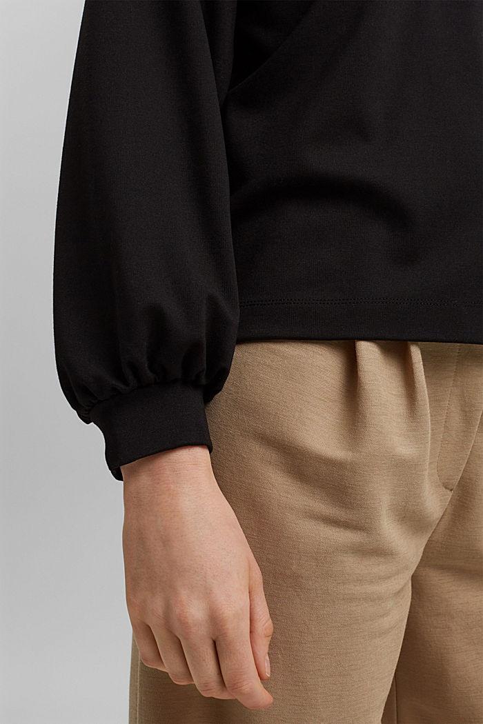 Sweatshirt with LENZING™ ECOVERO™, BLACK, detail image number 2