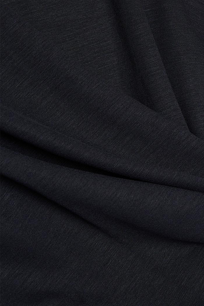 Long sleeve top with batwing sleeves, BLACK, detail image number 4