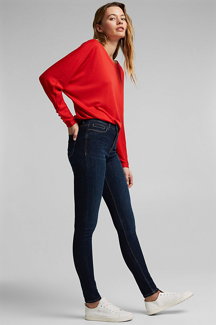 Long sleeve top with batwing sleeves, RED, detail image number 5