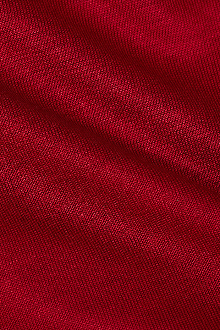 Long sleeve top made of LENZING™ ECOVERO™, DARK RED, detail image number 4