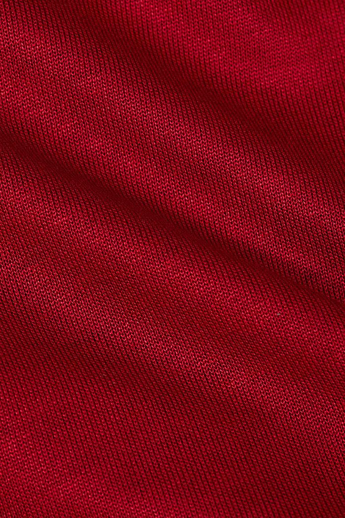 Longsleeve van LENZING™ ECOVERO™, DARK RED, detail image number 4