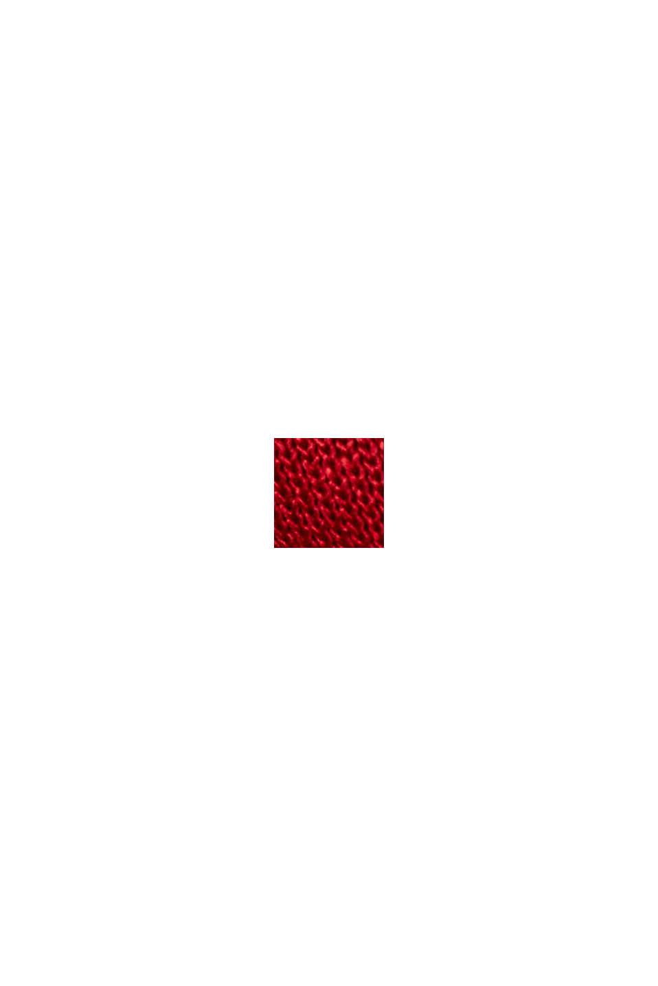 Lonsgleeve aus LENZING™ ECOVERO™, DARK RED, swatch