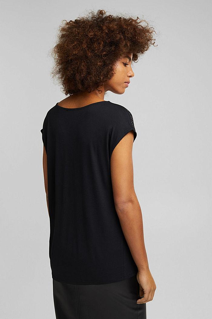 T-shirt made of 100% LENZING™ ECOVERO™, BLACK, detail image number 3