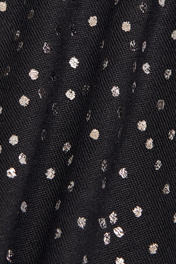 T-shirt made of 100% LENZING™ ECOVERO™, BLACK, detail image number 4