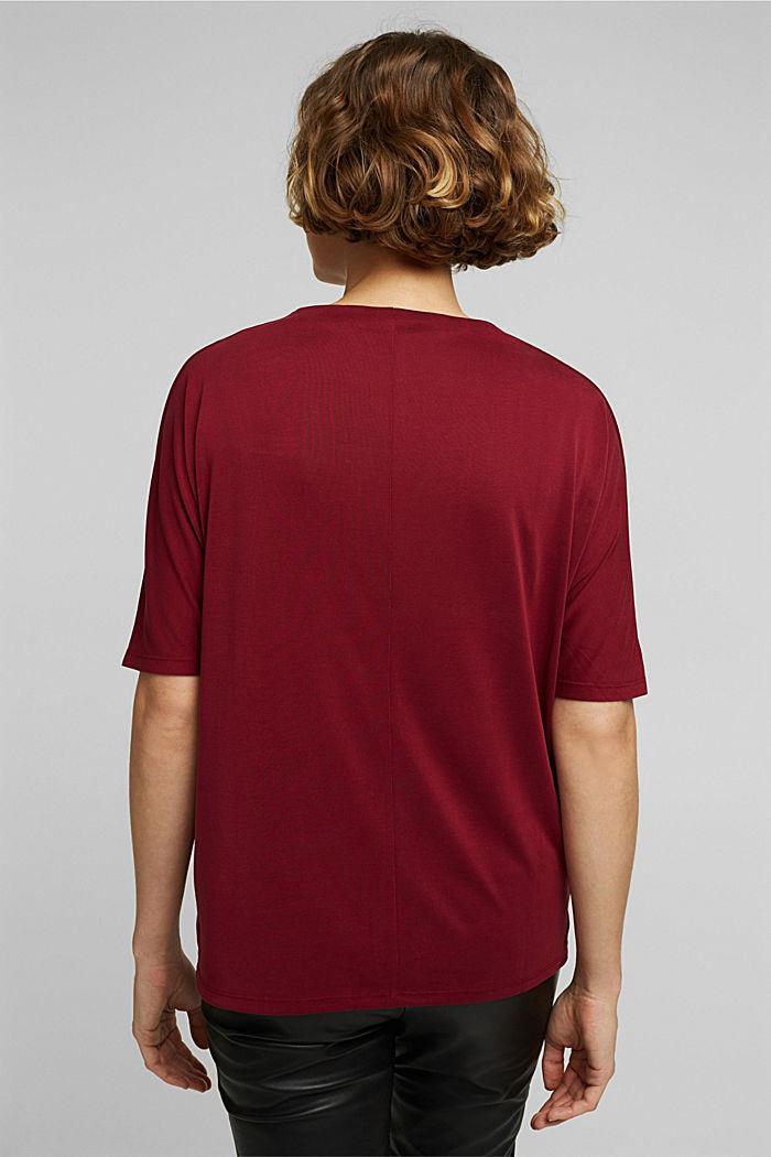 Splývavé strečové tričko, BORDEAUX RED, detail image number 3