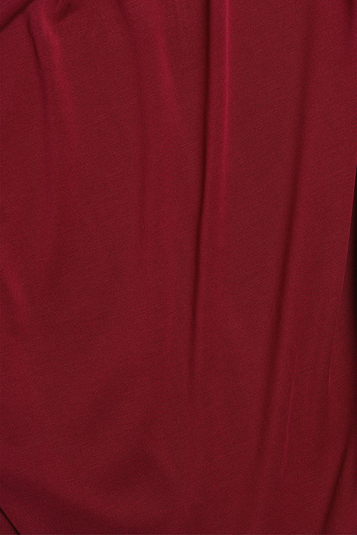 Flowy stretch top, BORDEAUX RED, detail image number 4