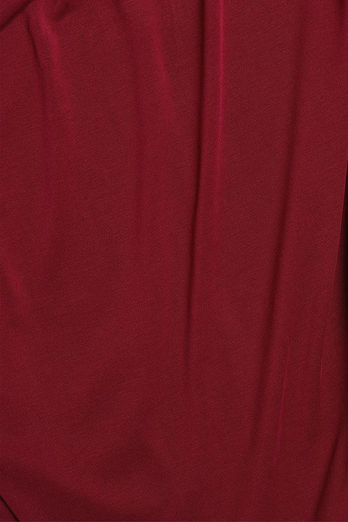 Splývavé strečové tričko, BORDEAUX RED, detail image number 4