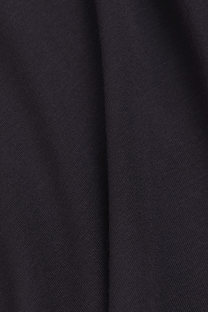 Long sleeve polo neck top made of modal, BLACK, detail image number 4